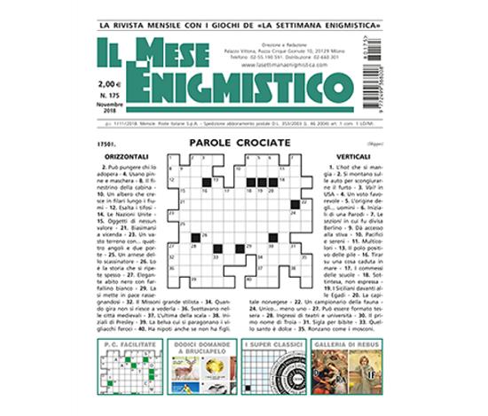 Immagine di IL MESE ENIGMISTICO N.175 NOVEMBRE 2018