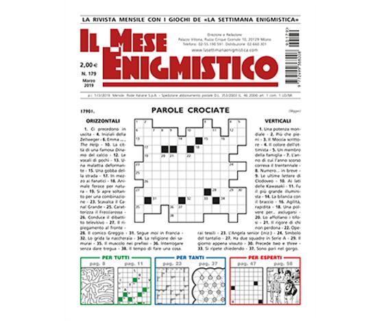Immagine di IL MESE ENIGMISTICO N.178 FEBBRAIO 2019