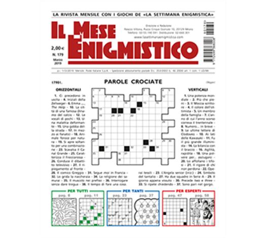 Immagine di IL MESE ENIGMISTICO N.179 MARZO 2019
